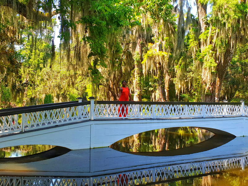 Magnolia Plantation and gardens long bridge