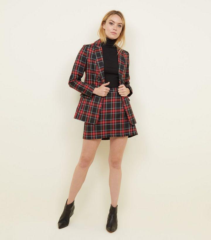 Black-tartan-check-blazer