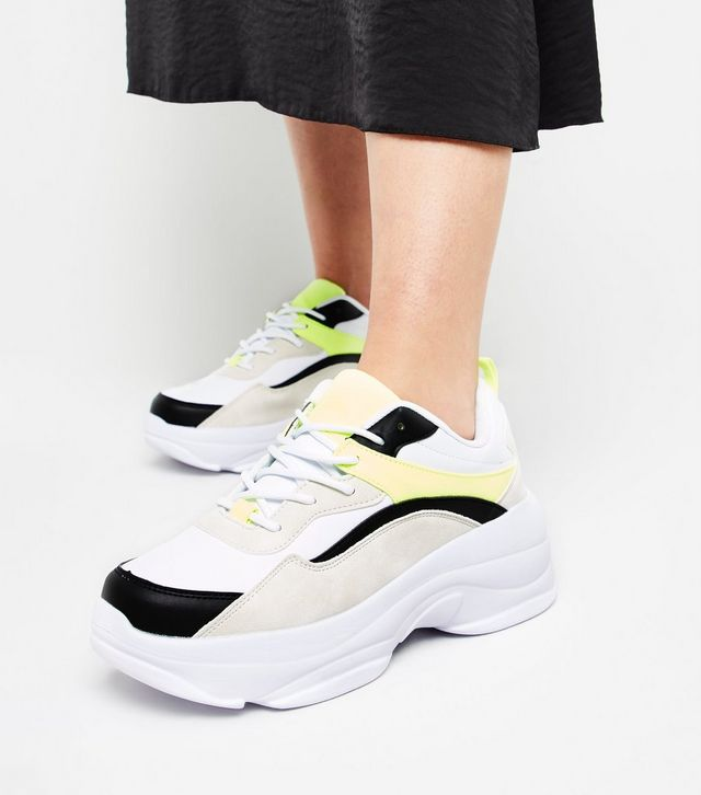 Black-and-yellow-chunky-sole-trainers