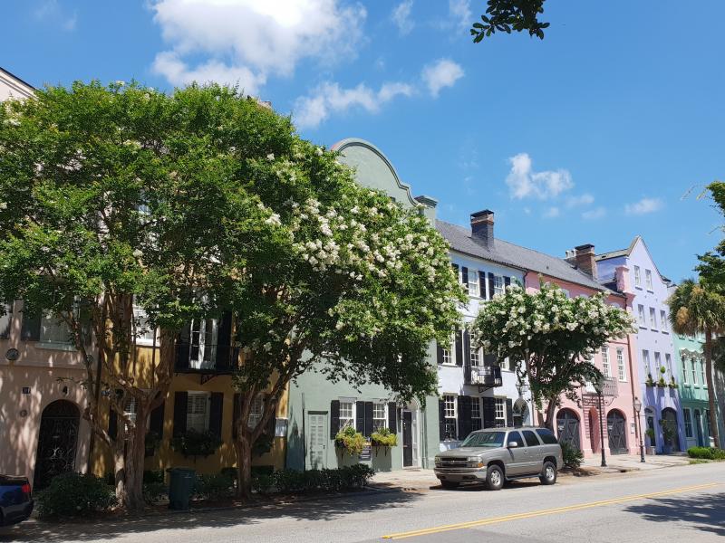 Charleston pastel houses