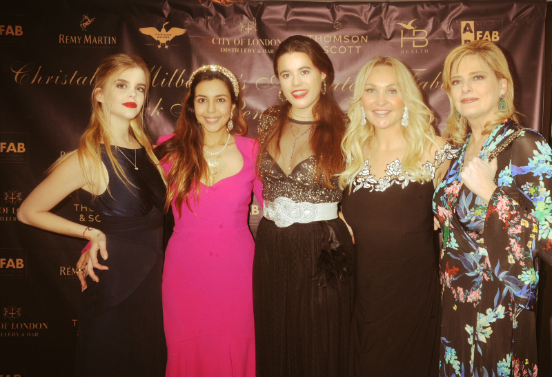 Christy Tholstrup, Christabel Milbanke, Princess Aurelia of Liechenstien, Heather Bird Tchenguiz, Paola Tholstrup