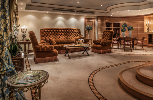 Rome Cavalieri - Penthouse Suite - Living Room with Couches and Sofa from Karl Lagerfelds Parisian Apartment