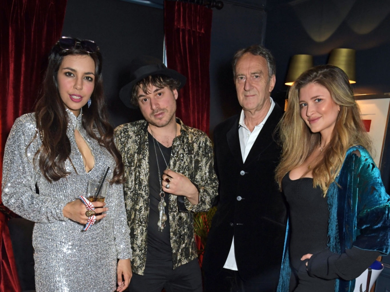 Christabel Milbanke, Jamie Perrett, Angus Deayton and Lauren Hutton attend the VIP launch of Christabel's.